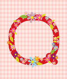 The letter Q Bright floral element of colorful alphabet in  Royalty Free Stock Photo