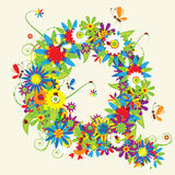 Letter Q, floral design Royalty Free Stock Photography