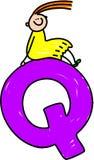 Letter Q girl Stock Images