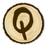 Letter Q Log End Royalty Free Stock Images