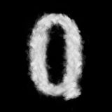 Letter Q made of the clouds Royalty Free Stock Images