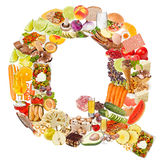 Letter Q made of food Stock Photo