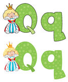 Letter Q queen Stock Photography