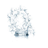 Letter Q of water alphabet Royalty Free Stock Photography