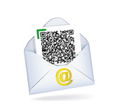 Letter with QR code. Royalty Free Stock Photo