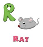 Letter R. Alphabet for children. Page with the letter R Stock Photos