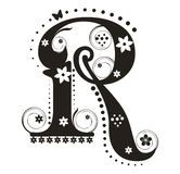 Letter R stock illustration