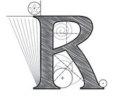 Letter R vector illustration