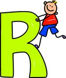 Letter R boy Stock Photography