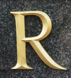 Letter R. Classical letter R in serif version royalty free stock photos