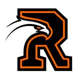 Letter R with eagle head. Great for sports logotypes and team mascots stock illustration