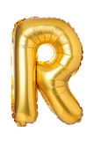 letter R from English alphabet of balloons Royalty Free Stock Photo