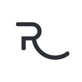 Letter R logo. Minimal illustration with letter R that can be used for logo or as isolated graphic element Stock Image