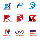 Letter R logo  set design Stock Images