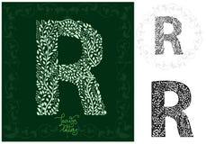Leaves alphabet, Letter R Stock Images