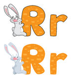 Letter R rabbit Stock Images