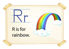 A letter R for rainbow Stock Image