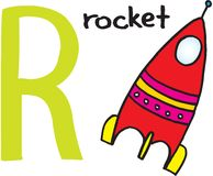 Letter R - rocket Royalty Free Stock Image