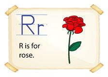 A letter R for rose Royalty Free Stock Photo