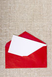 Letter in a red envelope Royalty Free Stock Photography
