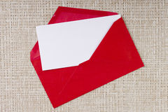 Letter in a red envelope Royalty Free Stock Images