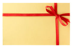 Letter with red ribbon Royalty Free Stock Photography