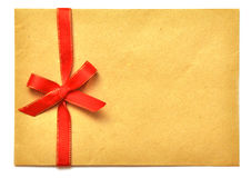 Letter with red ribbon Royalty Free Stock Photo