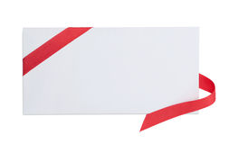 Letter with red ribbon Stock Photography