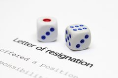 Letter of resignation Stock Photo