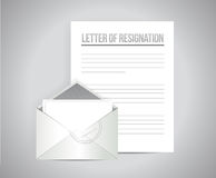 Letter of resignation papers illustration design Royalty Free Stock Photos