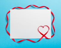 Letter with ribbon heart. Love Stock Images