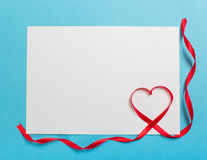 Letter with ribbon heart. Love Royalty Free Stock Photography