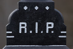The letter RIP on a grave. The letter RIP on an old marble grave in Holland Royalty Free Stock Photo