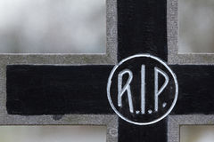 The letter RIP on a grave royalty free stock images