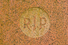 The letter RIP on a grave. The letter RIP on an old marble grave in Holland royalty free stock image