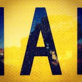 Letter A roadsign and retro reflective signage Royalty Free Stock Images