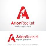 Letter A Rocket Logo Template Design Vector, Emblem, Design Concept, Creative Symbol, Icon Stock Photos