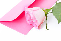 Letter and a rose Royalty Free Stock Photo
