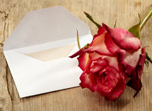 Letter and rose Stock Photos