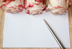 Letter and  roses Royalty Free Stock Image