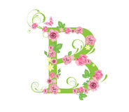 Letter with roses. For design royalty free illustration