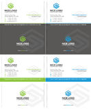 Letter s business card Stock Image