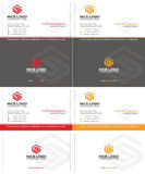 Letter s business card Stock Photos
