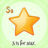Letter S. Flashcard letter S is for star royalty free illustration