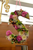 Letter S with flowers inside Royalty Free Stock Images