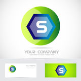 Letter S green ball sphere logo Stock Image