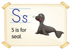 Letter S. Illustration of a flashcard with letter S royalty free illustration