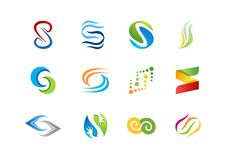 Letter S logo, abstract element concept company logos, business logo symbol icon vector design Stock Photos