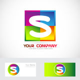 Letter S logo colors Royalty Free Stock Images