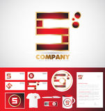 Letter S logo corporate identity template Royalty Free Stock Photos